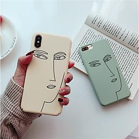 abordables Coques d'iPhone-cas pour apple iphone xr xs xs givré / motif couverture arrière motif géométrique pc dur pour iphone x 8 8 plus 7 7plus 6s 6s plus se 5 5s