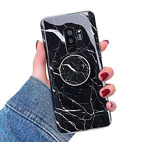 voordelige Galaxy S7 Edge Hoesjes / covers-hoesje Voor Samsung Galaxy S9 / S9 Plus / S8 Plus met standaard / IMD Achterkant Marmer Zacht TPU