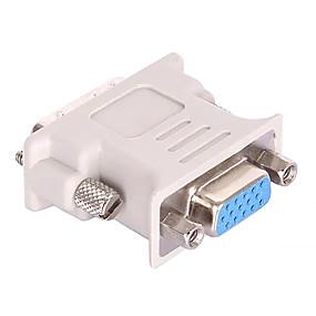 저렴한 USB 허브&스위치-DVI 24 + 5 어댑터 케이블, DVI 24 + 5 에 VGA 어댑터 케이블 Male - Female 짧은 (20 cm이하)