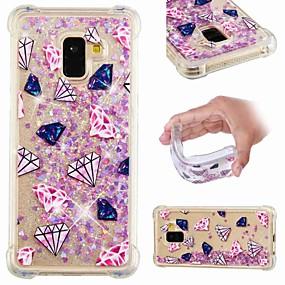 voordelige Galaxy A5(2016) Hoesjes / covers-hoesje Voor Samsung Galaxy A6 (2018) / A6+ (2018) / Galaxy A7(2018) Schokbestendig / Stromende vloeistof / Transparant Achterkant Landschap / Glitterglans Zacht TPU
