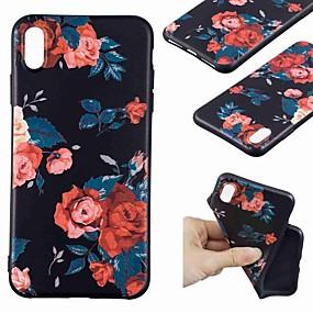 levne iPhone pouzdra-Carcasă Pro Apple iPhone XR / iPhone XS Max Vzor Zadní kryt Květiny Měkké TPU pro iPhone XS / iPhone XR / iPhone XS Max