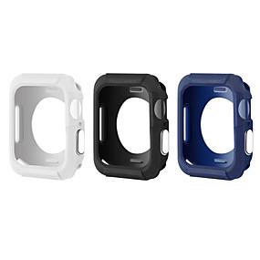 Недорогие Apple-Кейс для Назначение Apple Apple Watch Series 4 / Apple Watch Series 4/3/2/1 / Apple Watch Series 3 Силикон Apple