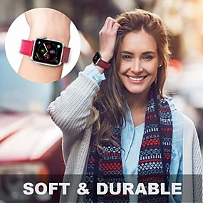 cheap Daily Deals-Watch Band for Apple Watch Series 4/3/2/1 Apple Leather Loop Genuine Leather Wrist Strap