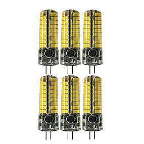 abordables Luces LED de Doble Pin-6pcs 5 W Luces LED de Doble Pin 400-500 lm G4 T 72 Cuentas LED SMD 5730 Encantador Blanco Cálido Blanco Fresco 12-24 V