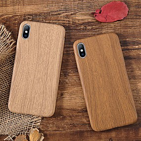 cheap Daily Deals-Case For Apple iPhone XS / iPhone XR / iPhone XS Max Shockproof / Ultra-thin Back Cover Wood Grain Soft TPU
