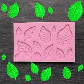 billige Kjøkkenutstyr og -redskap-blad silikon mold fondant mold kake dekorere verktøy sjokolade mold baking mold