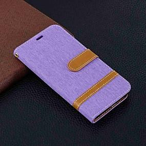 voordelige Galaxy S7 Edge Hoesjes / covers-hoesje Voor Samsung Galaxy S9 / S9 Plus / S8 Plus Portemonnee / Kaarthouder / met standaard Volledig hoesje Tegel Hard tekstiili