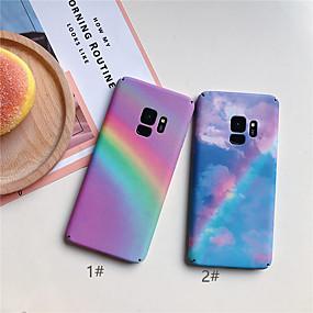 voordelige Galaxy S7 Edge Hoesjes / covers-hoesje Voor Samsung Galaxy S9 / S9 Plus / S8 Plus Ultradun / Patroon Achterkant Kleurgradatie Hard PC