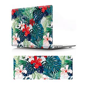 "cheap Mac Cases & Mac Bags & Mac Sleeves-MacBook Case with Protectors Flower PVC(PolyVinyl Chloride) for MacBook Air 13-inch / New MacBook Pro 13-inch / New MacBook Air 13"" 2018"