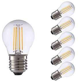 Χαμηλού Κόστους Λαμπτήρες LED με νήμα πυράκτωσης-6pcs gmy p45 οδήγησε λαμπτήρα πυρακτώσεως 3w led λάμπα edison με βάση e27 2700k ζεστό λευκό για υπνοδωμάτιο καθιστικό σπίτι cafe διακοσμητικά