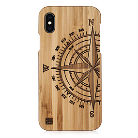 abordables Coques d'iPhone-Coque Pour Apple iPhone XS Max / iPhone 6 Relief Coque Formes Géométriques Dur En bois pour iPhone XS / iPhone XR / iPhone XS Max