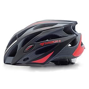 ieftine Sport & Stil de Viață-MOON Adulți biciclete Casca 21 Găuri de Ventilaţie Rezistent la Impact Lumina Greutate Ajustabil EPS PC Sport Bicicletă montană Ciclism stradal Ciclism / Bicicletă - Negru Negru / Roșu / Ventilație