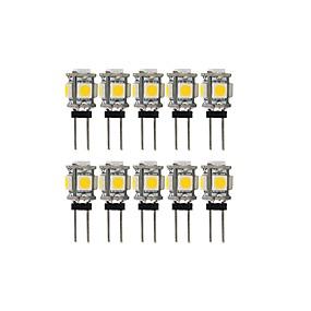povoljno LED svjetla s dvije iglice-10pcs 2 W LED svjetla s dvije iglice 100 lm G4 T 5 LED zrnca SMD 5050 Lijep Toplo bijelo Hladno bijelo 12 V