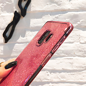 voordelige Galaxy J7 Hoesjes / covers-hoesje Voor Samsung Galaxy J8 (2018) / J7 (2017) / J7 (2018) Beplating / Glitterglans Achterkant Transparant / Glitterglans Zacht TPU