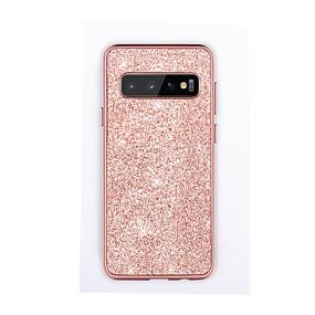 halpa Galaxy S -sarjan kotelot / kuoret-BENTOBEN Etui Käyttötarkoitus Samsung Galaxy Galaxy S10 Pinnoitus / Kimmeltävä Takakuori Yhtenäinen / Kimmeltävä Kova PU-nahka / TPU / Hiilikuitu varten Galaxy S10