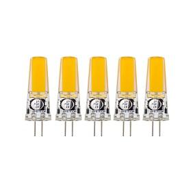abordables Luces LED de Doble Pin-5pcs 3 W Luces LED de Doble Pin 400-500 lm G4 T 1 Cuentas LED COB Decorativa Blanco Cálido Blanco Fresco 12 V 24 V