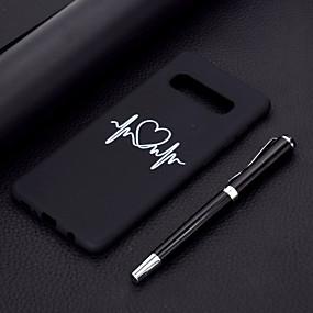 halpa Galaxy S -sarjan kotelot / kuoret-Etui Käyttötarkoitus Samsung Galaxy Galaxy S10 Plus / Galaxy S10 E Pölynkestävä / Himmeä / Kuvio Takakuori Sydän Pehmeä TPU varten S9 / S9 Plus / Galaxy S10