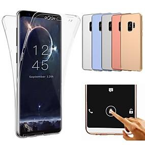 halpa Galaxy S -sarjan kotelot / kuoret-Etui Käyttötarkoitus Samsung Galaxy Galaxy S10 / Galaxy S10 Plus Iskunkestävä / Ultraohut / Läpinäkyvä Suojakuori Yhtenäinen Pehmeä TPU varten S9 / S9 Plus / S8 Plus