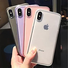 abordables Cool & Fashion Cases pour iPhone-Coque Pour Apple iPhone XR / iPhone XS Max Dépoli / Transparente Coque Couleur Pleine Flexible TPU pour iPhone XS / iPhone XR / iPhone XS Max