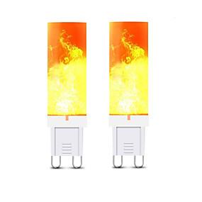 povoljno LED svjetla s dvije iglice-2pcs 3 W LED svjetla s dvije iglice 240-300 lm G9 T 36 LED zrnca SMD 2835 3D vatromet Toplo bijelo 220 V
