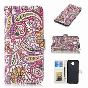 voordelige Galaxy J3 Hoesjes / covers-hoesje Voor Samsung Galaxy J5 (2017) / J3 (2017) / J3 (2016) Portemonnee / Kaarthouder / Flip Volledig hoesje Bloem Hard PU-nahka