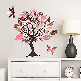 cheap Decoration Stickers-Decorative Wall Stickers - Plane Wall Stickers Floral / Botanical Living Room / Bedroom / Kitchen