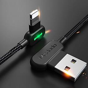 abordables Câbles & Adaptateurs d'iPhone-Eclairage Câble 1m-1.99m / 3ft-6ft Tressé / Charge rapide Nylon Adaptateur de câble USB Pour iPhone