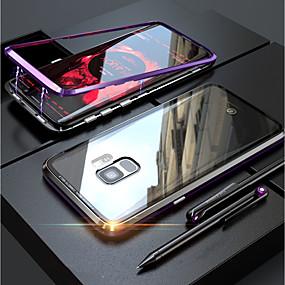 Χαμηλού Κόστους Θήκες / Καλύμματα Galaxy S Series-tok Για Samsung Galaxy S9 Plus / S9 Διαφανής / Μαγνητική Πλήρης Θήκη Μονόχρωμο Σκληρή Ψημένο γυαλί για S9 / S9 Plus / S8 Plus