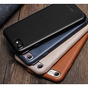 abordables Coques d'iPhone-Coque Pour Apple iPhone 7 Plus / iPhone 6 Antichoc Coque Couleur Pleine Dur Cuir véritable pour iPhone 7 Plus / iPhone 7 / iPhone 6s Plus