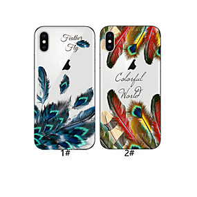 olcso iPhone tokok-Case Kompatibilitás Apple iPhone XR / iPhone XS Max Minta Fekete tok Tollak Puha TPU mert iPhone XS / iPhone XR / iPhone XS Max