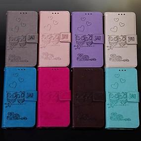 voordelige Galaxy S7 Edge Hoesjes / covers-hoesje Voor Samsung Galaxy S9 / S9 Plus / S8 Plus Portemonnee / Kaarthouder / Flip Volledig hoesje dier Hard PU-nahka