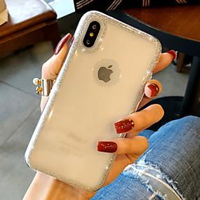 olcso iPhone tokok-Case Kompatibilitás Apple iPhone XS Max / iPhone 6 Csillogó Fekete tok Csillogó Puha Szilikon mert iPhone XS / iPhone XR / iPhone XS Max