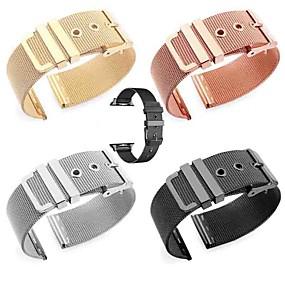 economico Accessori per Apple Watch-Cinturino per orologio  per Apple Watch Series 4/3/2/1 Apple Cinturino a maglia milanese Metallo Custodia con cinturino a strappo