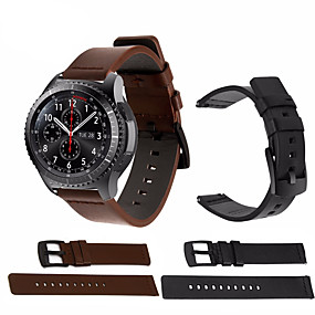 cheap Watch Bands for Samsung-Watch Band for Samsung Galaxy Watch 46 / Gear S3 Classic / Gear S3 Frontier Samsung Galaxy Sport Band Genuine Leather Wrist Strap