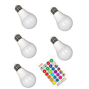 economico Lampadine LED intelligenti-5 pezzi 5 W Lampadine LED smart 350 lm E26 / E27 A60(A19) 3 Perline LED SMD 5050 Smart Oscurabile Feste RGBW 85-265 V