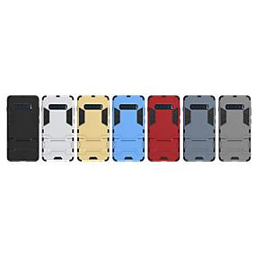 voordelige Galaxy S7 Edge Hoesjes / covers-hoesje Voor Samsung Galaxy S9 / S9 Plus / S8 Plus Schokbestendig Achterkant Schild Zacht TPU / PC
