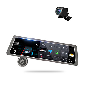 voordelige Auto DVR's-Factory OEM D10 1080p Auto DVR 170 graden Wijde hoek 10 inch(es) Dash Cam met GPS / Parkeermodus / Continu-opname Autorecorder
