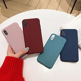 levne Pouzdra iPhone XS-Carcasă Pro Apple iPhone X / iPhone XS Max Nárazuvzdorné Zadní kryt Jednobarevné Měkké Silica gel pro iPhone XS / iPhone XR / iPhone XS Max