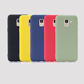 voordelige Galaxy J5(2017) Hoesjes / covers-hoesje Voor Samsung Galaxy J6 (2018) / J5 (2017) / J5 (2016) Mat Achterkant Effen Zacht TPU