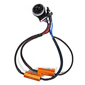 economico Kit di conversione HID-2pcs 50w 8ohm 3157 resistori di carico resistori a doppio resistore per lampadina& urlare
