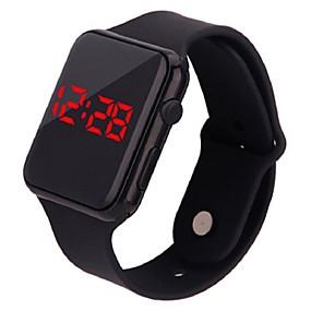 billige kvinners digitale klokker-Dame Digital Watch Fritid Mote Svart Hvit Blå Silikon Digital Gul Mørk Marineblå Rose Rød LED Lys Hverdagsklokke Digital