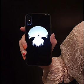 abordables Coques d'iPhone-cas pour apple iphone xs max / iphone x porte-anneau couverture arrière marbre / couleur acrylique dur dégradé pour iphone 6 / iphone 6 plus / iphone 6s / 6splus / 7/8/7 plus / 8 plus / x / xs / xr /