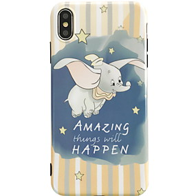 abordables Coques d'iPhone-Coque Pour Apple iPhone XS Max / iPhone 6 Motif Coque Bande dessinée Flexible Le gel de silice pour iPhone XS / iPhone XR / iPhone XS Max