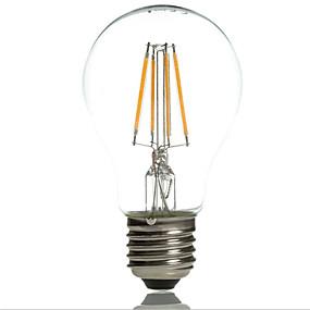 Χαμηλού Κόστους Λαμπτήρες LED με νήμα πυράκτωσης-1pc 4 W LED Λάμπες Πυράκτωσης 360 lm E26 / E27 A60(A19) 4 LED χάντρες COB Διακοσμητικό Θερμό Λευκό Ψυχρό Λευκό 220-240 V