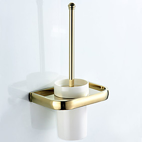 cheap Bathroom Gadgets-Toilet Brush Holder New Design Contemporary / Modern Brass / Ceramic 1pc - Bathroom / Hotel bath Wall Mounted