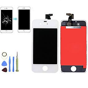 abordables Pièces de Rechange pour iPhone-2019 nouveau remplacement lcd affichage écran tactile digitizer assemblage panneau avant kit avec outils de désassemblage pour iphone 4 / 4s