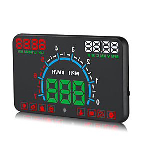 voordelige Auto-elektronica-obd hud digitale universele projectie display auto vrachtwagen snelheidsmeter temperatuur display