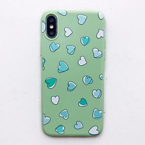 abordables Coques d'iPhone-Coque Pour Apple iPhone XS Max / iPhone 6 Motif Coque Cœur Flexible Silicone pour iPhone XS / iPhone XR / iPhone XS Max