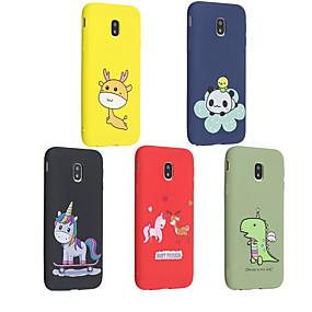 voordelige Galaxy J5(2017) Hoesjes / covers-hoesje Voor Samsung Galaxy J6 (2018) / J5 (2017) / J5 (2016) Mat / Patroon Achterkant dier / Cartoon Zacht TPU