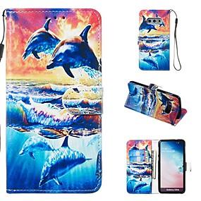 voordelige Galaxy S7 Hoesjes / covers-hoesje Voor Samsung Galaxy S9 / S9 Plus / S8 Plus Portemonnee / Kaarthouder / met standaard Volledig hoesje dier Hard PU-nahka